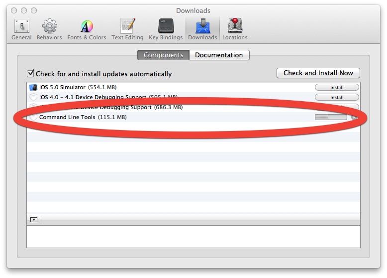 Mountain Lion Xcode The solution is pretty simple